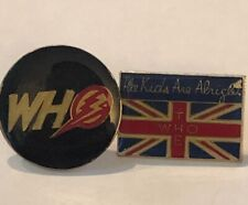 Bolt Flash Kids Are Alright Enamel 2 Vintage The Who Rock'N'Roll Pins Thunder