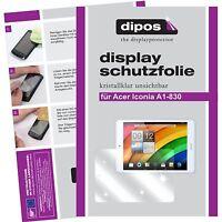 2x dipos Protection pour Acer Iconia Tab A1-830 Film de d'écran cristal clair