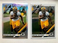 (2) 2019 Optic Prizm Silver Prizm Dexter Williams RC PACKERS+ Optic RC Lot