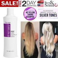Fanola No Yellow Shampoo Remove Lightened Decolored Grey Silver Hair Women 350ml