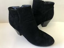 Charlotte Russe Black 'Rainy' Vegan Suede Ankle Boots Booties Size 9