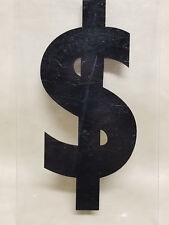 VINTAGE 1960-70s Plastic Gas Station Price Sign Advertising Plexiglass $ Dollar