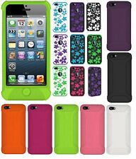 AMZER Skin Jelly TPU Flora Hybrid Dual Layer Kickstand Case For iPhone 5 only UK