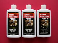 Granite and Marble Polish Italian Craftsman Polish 3-16 OZ Bottles FREE SHIPPING
