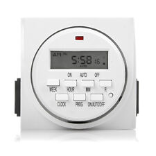 7 Day Heavy Duty Digital Programmable Timer - Dual Outlet (Indoor)