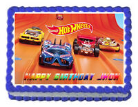 "Hot wheels  Edible image Cake topper decoration-7.5""x10"""