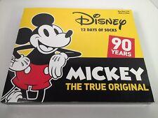 Disney 12 Days of Socks - Mickey The True Original 90 Years Kids Shoe Size 7-10