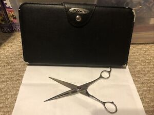 Kenchii Scorpion Straight-Edge Dog Grooming Shears 7 Inches With Case