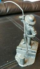 Franklin Mint The Canal Boatman 1816 - 1835 Fine Pewter 1974 Franklin Mint