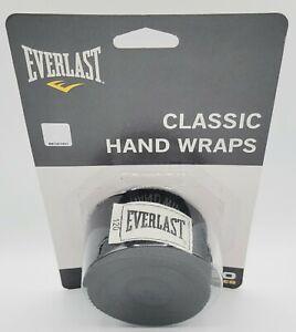 "EVERLAST Classic 120"" Hand Wraps Boxing MMA Sports Training Black. Model 4455BP."