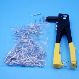140Pcs Manually Riveter Gun Set Blind Rivet Hand Tool Kit Repair Tool Practical
