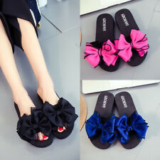 Women Summer Flower Flat Indoor Outdoor Slippers Beach Flip Flops Sandals Shoes