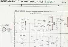 PIONEER GM-4 Original Power Amplifier Service-Schaltplan/Diagram o97