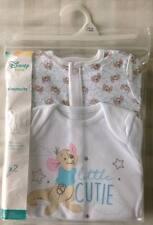 Disney Winnie The Pooh ~ Little Roo 2 x Baby Boys All In One Babygrow/Sleepsuits