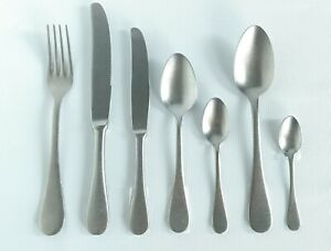 Mepra Italy 7 Piece Place Setting Knife Forks Spoons Flatware Vintage Pewter