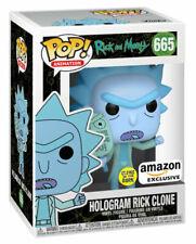 Funko Pop! Animation: Rick and Morty - Hologram Rick Clone (Glows in the Dark) Vinyl Figure (Amazon Exclusive)