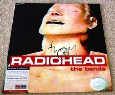 THOM YORKE SIGNED THE BENDS VINYL ALBUM RADIOHEAD BAND BRITISH ROCK PSA/DNA