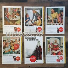 1947 COMPLETE Set of 6 NATIONAL GEOGRAPHIC MAGAZINE COCA-COLA COKE ADS
