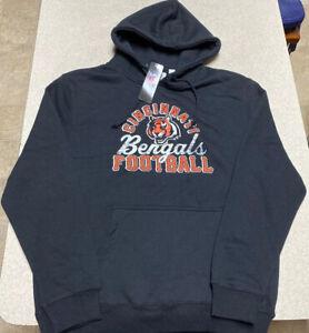 Majestic Cincinnati Bengals Big Logo Pullover Hoodie Jacket Men's Size Medium