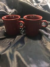 HLC Fiesta Ring Handle Brick Red cranberry Cinnabar Mugs
