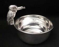 Antique Silver Plate Figural Kookaburra Sugar Bowl Art Deco Australiana