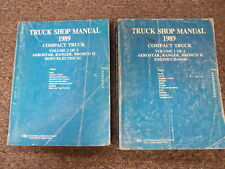 1989 Ford Aerostar Ranger & Bronco II Shop Service Repair Manual 2 Vol Set