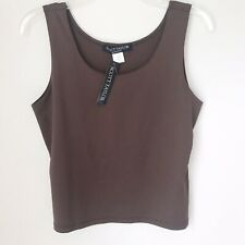 Scott Taylor Women's Petite Brown Tank Top Sz LP NWT