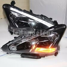 2013 to 2015 Year For Altima LED Head Lamps Teana Front Light Projector Lens TLZ