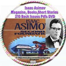 210 pdfs Isaac Asimov's Science Fiction out-of-print rare magazines Dvd