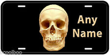 Real Skull Aluminum Any Name Personalized Auto Tag Novelty License Plate