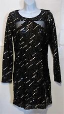 MASQUERADE Junior's 13 14 black sequin sheath FORMAL PARTY DRESS Beautiful j52