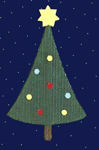 Little Christmas Tree Star & Baubles ORIGINAL QUICKUTZ DIE Limited USA Edition