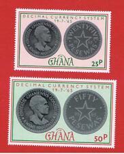 Ghana #214-215 MNH OG  Coins  Free S/H
