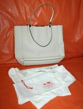 Coach Madison North South Light Parchment Saffiano Leather Handbag LI393-28743