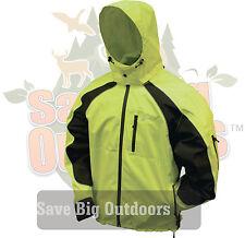 Frogg Toggs Kikker II Safety Green & Black Motorcycle Reflective Rain Jacket 2XL