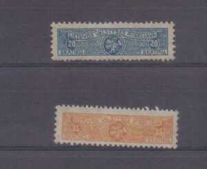 Lithuania Pair of early Telegraph stamps unused