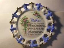 lovely mother poem wall hanging collectors plate