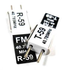 RC 40 MHZ 40.785 FM Crystal TX & RX Receiver 40MHZ Black Channel 59