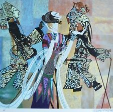 """Ting Shao Kuang  """"SHADOW PLAY"""" HAND SIGNED Serigraph American/Chinese 丁绍光"""