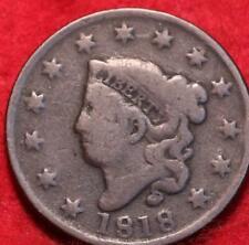 1818 Philadelphia Mint Copper Coronet Head Large Cent
