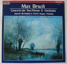 MAX BRUCH (LP 33T) CONCERTO FOR TWO PIANOS & ORCHESTRA  / BERKOFSKY / HAGAN