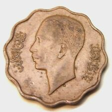 elf Iraq Kingdom 10 Fils  AH 1357  AD 1938 I  Ghazi I  dot under bust