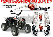 AMR Racing DECORO GRAPHIC KIT ATV POLARIS interferenzaNverso/Trailblazer CHECKERED SKULL B
