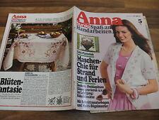 ANNA 5/1980 -- LEHRGANG: HÄKELEINSÄTZE / OCCHISPITZEN / PLATTSTICH / GRAVIEREN