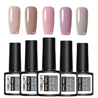 LEMOOC 5 Bottles 8ml Nagel Gellack Gel UV Soak Off Nail Art UV Gel Polish