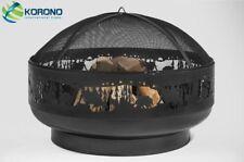 Korono Feuerschale mit Funkenschutz Ø 80cm Handmade