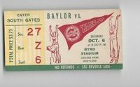1956 (Oct 6) college football ticket stub Baylor Bears v Maryland Terrapins