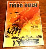 Avalon Hill Third Reich Unpunched Vintage Bookshelf Games 1974 Second Edition