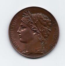 Art Nouveau / Republique Francaise / Marianne Bronze Medal by J.C. Chaplain M11b