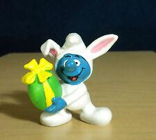 Smurfs White Bunny Smurf Easter Holiday PVC Figure Vintage Toy Figurine 20496